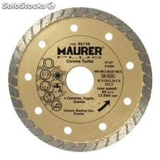 Disco diamante maurer continuo turbo 115mm