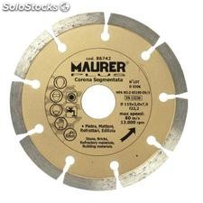 Disco diamante maurer segmentado 115mm