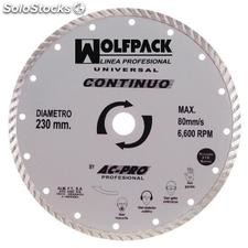 Disco diamante wolfpack continuo 230mm