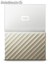 Disco duro externo hdd wd hdd ext my pass ultra 2tb white gold