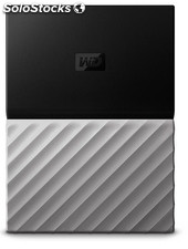 Disco duro externo hdd wd hdd ext my pass ultra 4tb black grey
