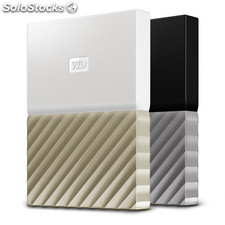 Disco duro externo hdd wd hdd ext my pass ultra 4tb white gold