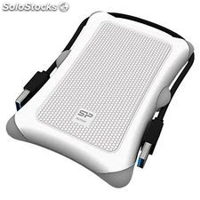 "Disco Duro Externo Silicon Power 2.5"" USB 3.0 2 TB Anti-shock Blanco"
