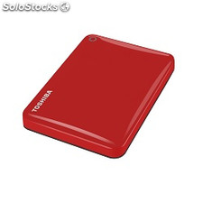 Disco duro portátil 2 tb usb 3.0 Toshiba canvio rojo connect