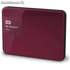Disco duro portátil 2 TB WD My Passport Ultra rojo