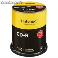 Discos intenso 1001126 CD-r 700MB 100 unidades