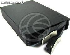 Disk Array sata-hdd (2xHDD 3.5 + 2.05 in Bay External Case) (VI47)