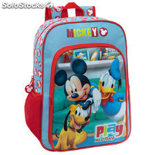 Disney 4522351 Mickey Play Mochila Escolar. 15.6 Litros. Color Rojo