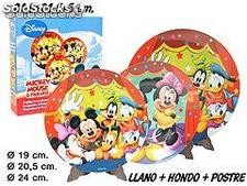 Disney Mickey Vajilla 3Pcs.
