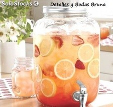 Dispensador de Bebidas Cuadrado.Tarro con grifo limonada candy bar