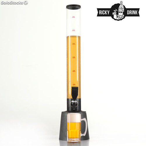 Dispensador de Cerveza Ricky Drink Party Tower, capacidad 3,5 litros, ideal para