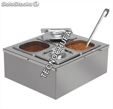 Dispensador de salsas calientes WINDSOR en acero inox. Ref. 246
