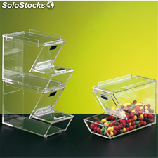 Dispensador productos a granel apilable 28x18x10 cm transparente acrílico (1
