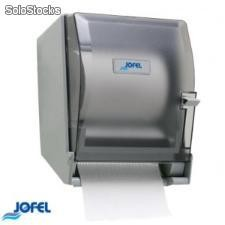 Dispensador toalla en rollo palanca matic transparente