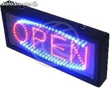 DispkayMatic LED sign with red and blue OPEN message (LF12)