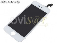 Display LCD + digitalizador, pantalla tactil + marco blanco para iPhone 5S