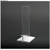 Display plexiglas 2 faces base blanche/noire/fuchsia
