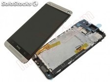 Display prata HTC One M7, 801E remanufaturada