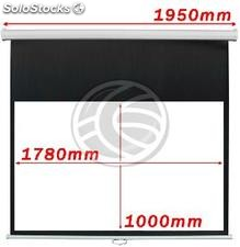 DisplayMATIC 16:9 projection screen wall of 84 white (OW42)