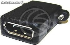 DisplayPort female-to-female adapter with panel-mount connector (YP51)