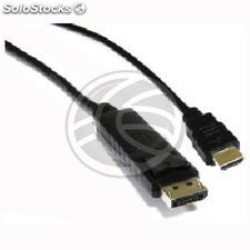 DisplayPort Male to hdmi Cable Male 2m (YP22-0002)