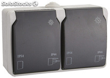 Doble base enchufe Solera 2 polos+t/t lateral 16a certificada vde