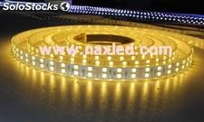 Doble línea de iluminación led tiras flexibles led smd, 5050, 120leds / m, ip65