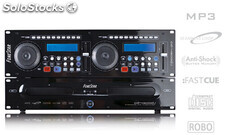 Doble reproductor profesional CD/MP3 dj de sobremesa fonestar CD-4500DJ