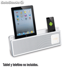 Dock station lg ND5521 ipod+ipad blue dualdock negro