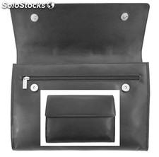 Document Holder Black Cowhide Nappa