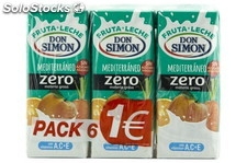 Don Simon Fruta+Leche Mediterraneo 200ml. Pack 6 Don Simon