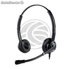 Double headset with microphone for GN Netcom QD (KG30)