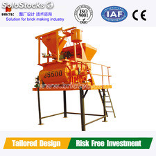Double Horizontal Shaft Concrete Mixer