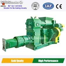 Double-stage tile vacuum extruder