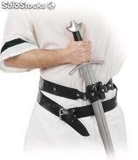 Double sword holster made of synthetic leather
