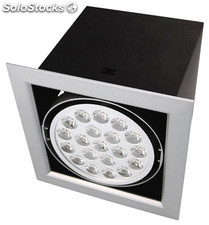 Downlight comercial 24.5 w. 190 x 190 x 167mm. blanco frio