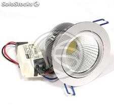 Downlight empotrable LED 10W 100 mm plata blanco día COB10W (NH76)