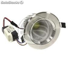 Downlight empotrable LED 7W 95mm plateado blanco día COB7W (NH74-0002)