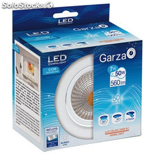 Downlight Empotrable Led Cob 7W 600Lm 3000K 85X50Mm Blanco Garza
