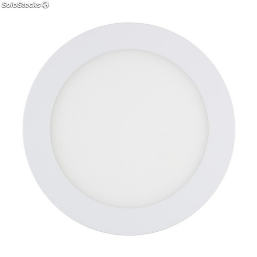 Downlight led 12W 6000-6500K empotrable redondo blanco