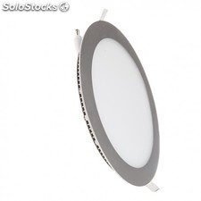 Downlight LED 12W 6000K empotrable redondo aluminio chip Led Osram