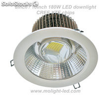 Downlight LED 180W diámetro de corte de 240mm/200mm 8inch/10inch AC85-305V