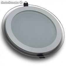 Downlight LED 18W Cristal Luz Fría 1150Lm Panel Led Redondo 6000ºK