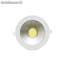Downlight led circular cob difusor transparente 178mm 15w 1200lm blanco cálido