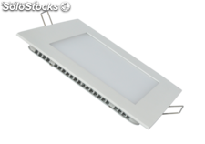 Downlight Led cuadrado 12W-3000K 960LM (luz calida)