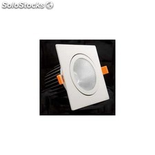 Downlight LED cuadrado basculante 12w 3000K