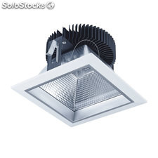 Downlight LED cuadrado blanco Pandora 40W 3000K 2800Lm IP44