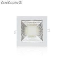 Downlight led cuadrado cob 15w 1200lm blanco cálido