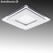 Downlight led cuadrado con cristal duo (blanco/azul) 130x130mm 10w 800lm blanco