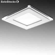Downlight led cuadrado con cristal duo (blanco/azul) 160x160mm 15w 1200lm blanco